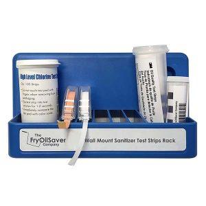 Wall Mount Sanitizer Test Strips Rack